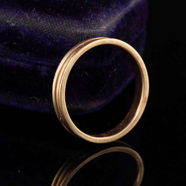 RESERVED - Layaway 2 of 5 - Antique Victorian 14K Yellow Gold Engraved Wedding Band - Size 6