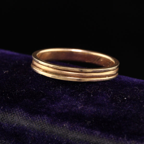 RESERVED - Layaway 3 of 5 - Antique Victorian 14K Yellow Gold Engraved Wedding Band - Size 6