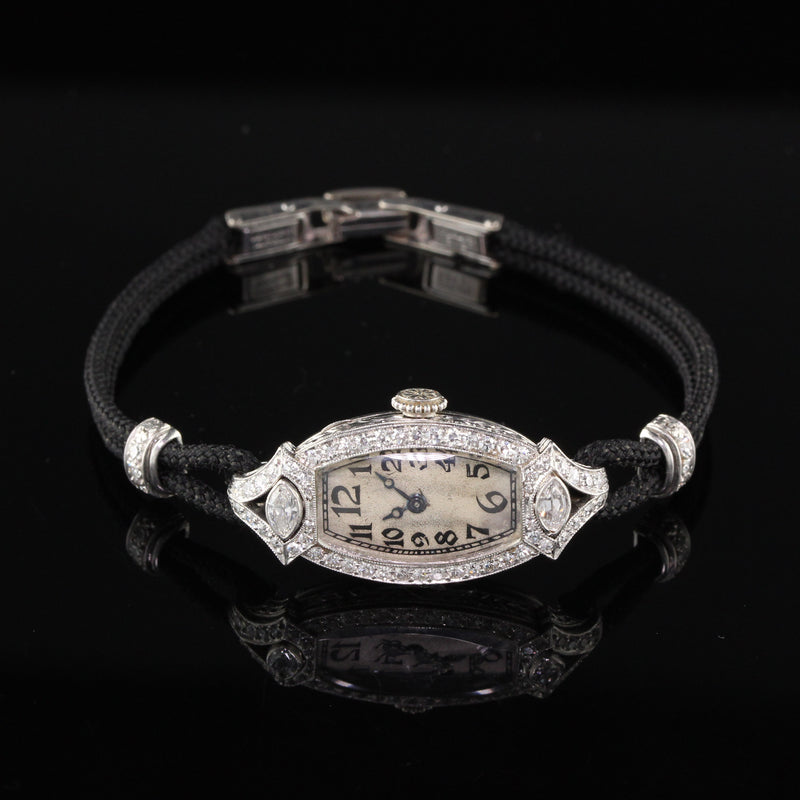 Antique Art Deco CH MEYLAN Diamond Watch