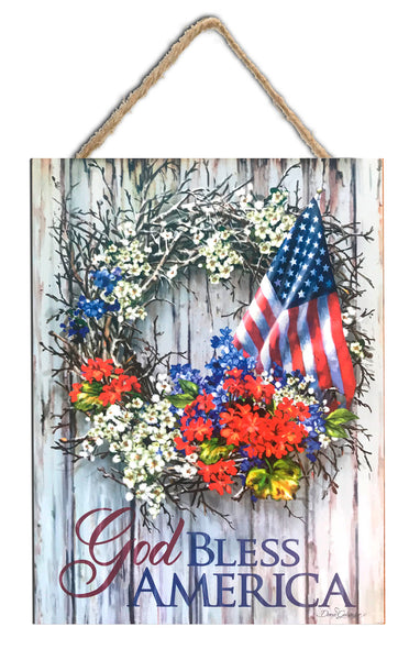 "God Bless America 7.5""x10"" Sign"