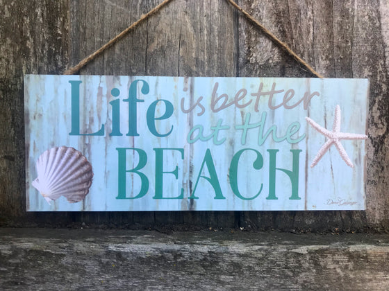 "Better at the Beach 4""x10"" Sign"