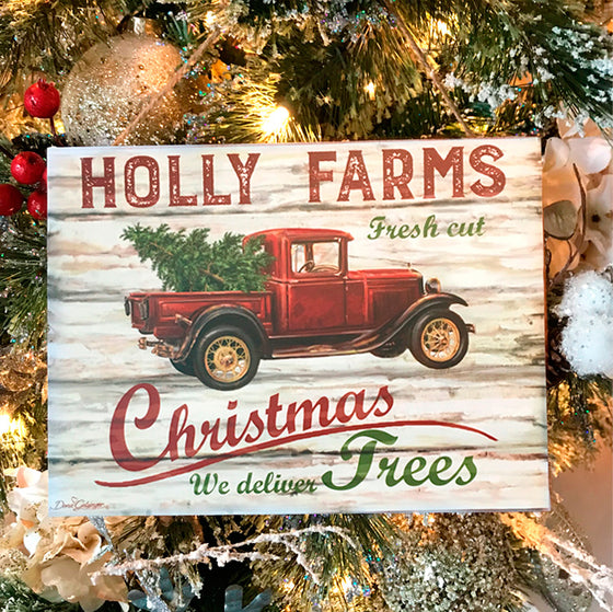 "Holly Farms 7""x10"" Sign"
