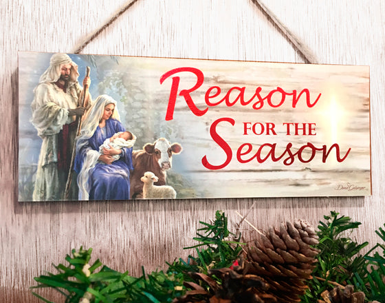 "Reason for the Season 4""x10"" Sign"