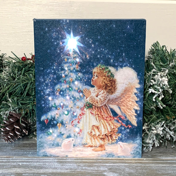 Christmas Wish - Lighted Tabletop Canvas 8x6