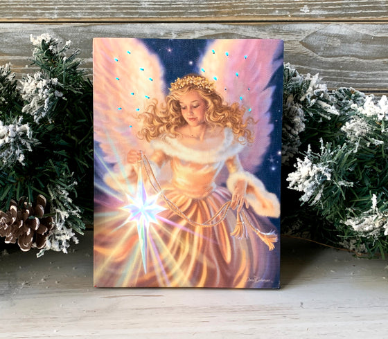Light of the World - Lighted Tabletop Canvas 8x6