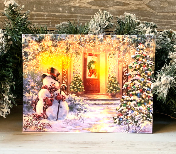 Home for the Holidays - Lighted Tabletop Canvas 8x6