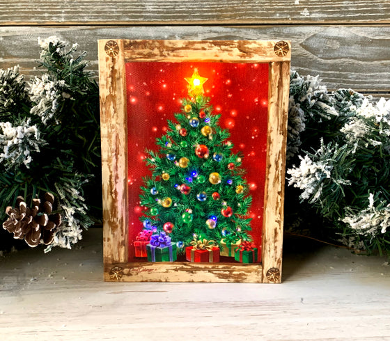O Christmas Tree - Lighted Tabletop Canvas 8x6