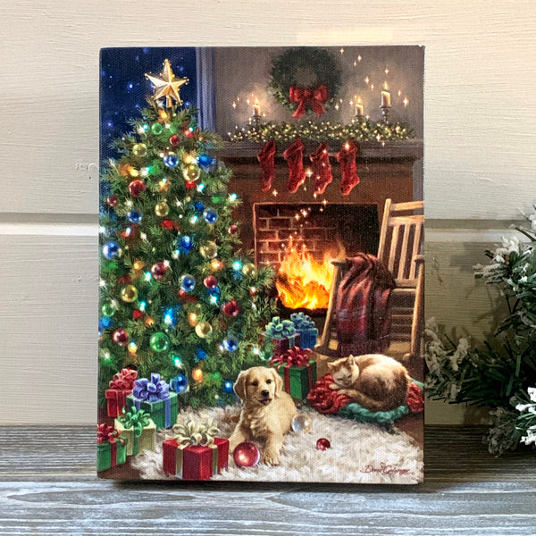 Cozy Christmas - Lighted Tabletop Canvas 8x6