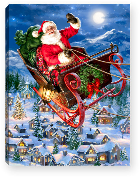 Delivering Christmas - Lighted Tabletop Canvas 8x6