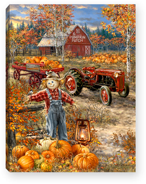 MINI LIGHTED EASEL BACK 8x6 PUMPKIN PATCH
