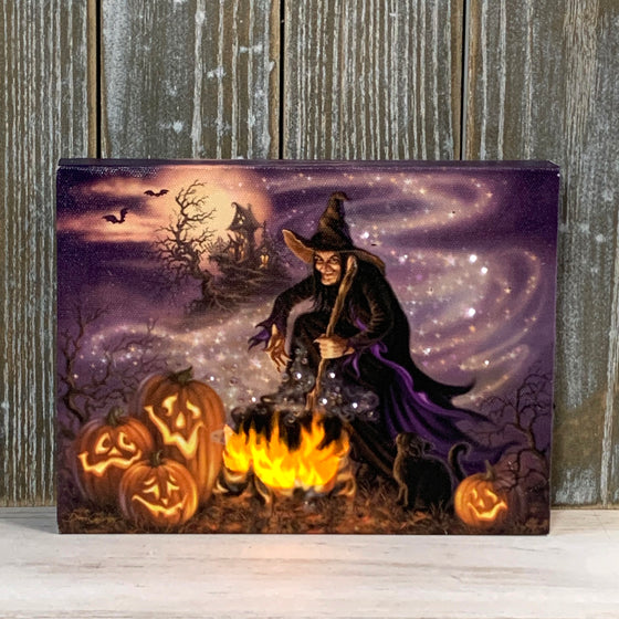 All Hallow's Eve - Lighted Tabletop Canvas 8x6