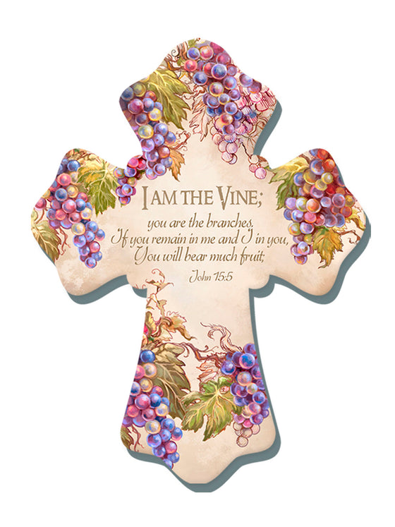 """I am the Vine"" 6""x8"" Cross"
