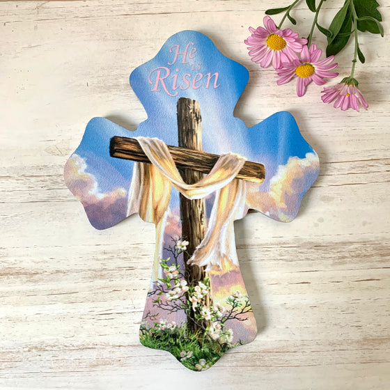 "He is Risen 6""x8"" Cross"