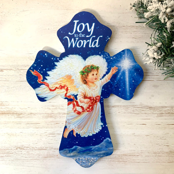 """JOY TO THE WORLD"" 6""x8"" Cross"