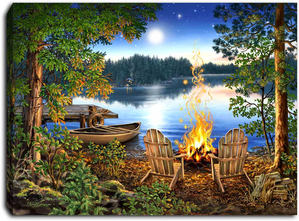 Lakeside - Lighted Tabletop Canvas 8x6