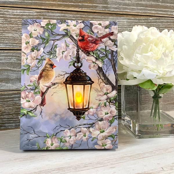 Spring Lantern - Lighted Tabletop Canvas 8x6
