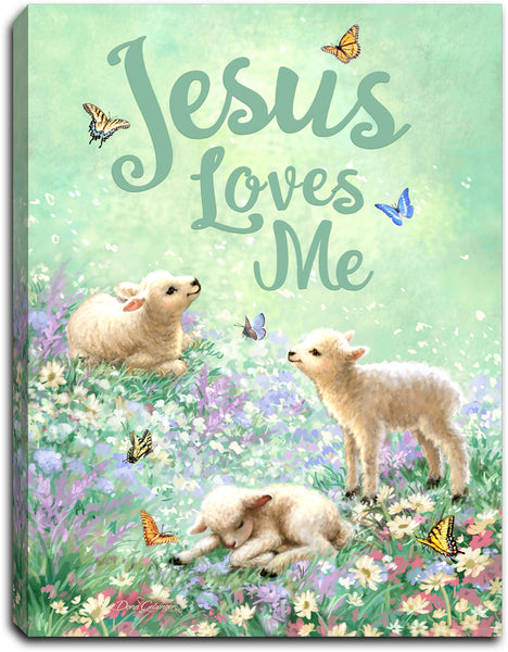 Jesus Loves Me - Lighted Tabletop Canvas 8x6