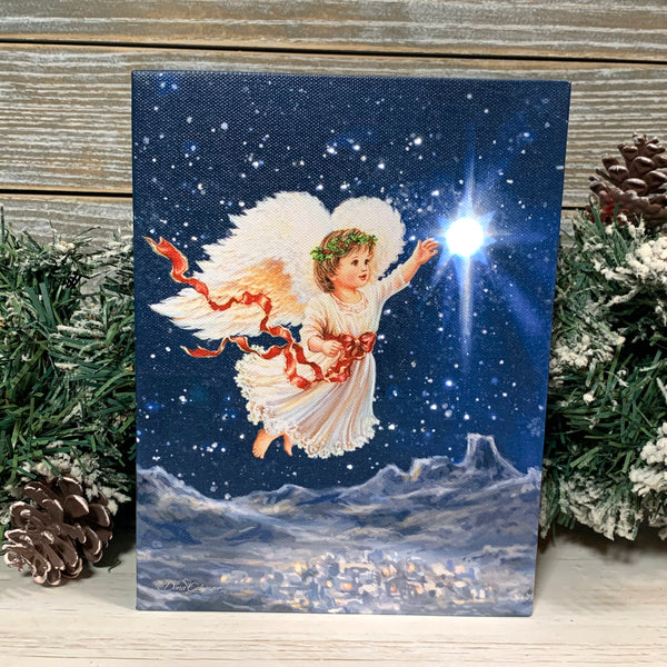 Star Angel - Lighted Tabletop Canvas 8x6