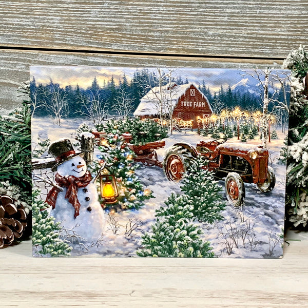 The Tree Farm - Lighted Tabletop Canvas 8x6