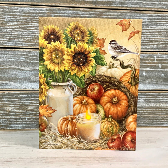 MINI LIGHTED EASEL BACK 8x6 BOUNTIFUL HARVEST