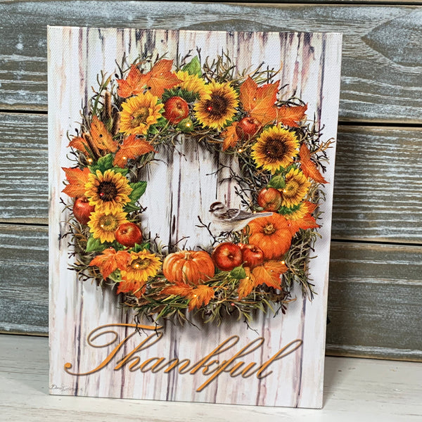 Thankful - Lighted Tabletop Canvas 8x6