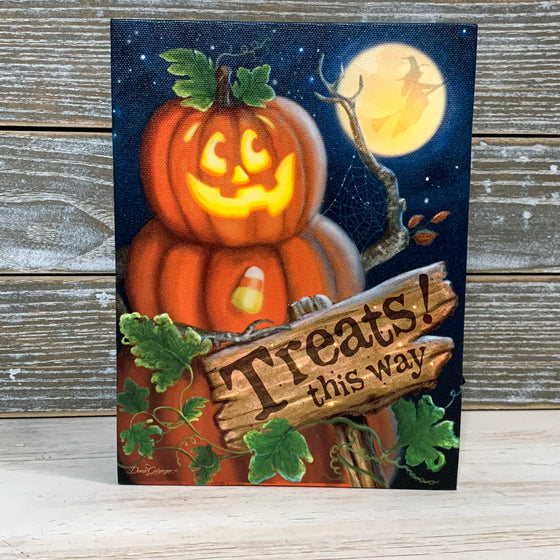 MINI LIGHTED EASEL BACK 8x6 TREATS THIS WAY