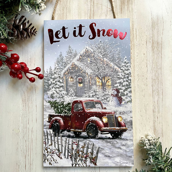 "Let it Snow 6""x10"" Sign"