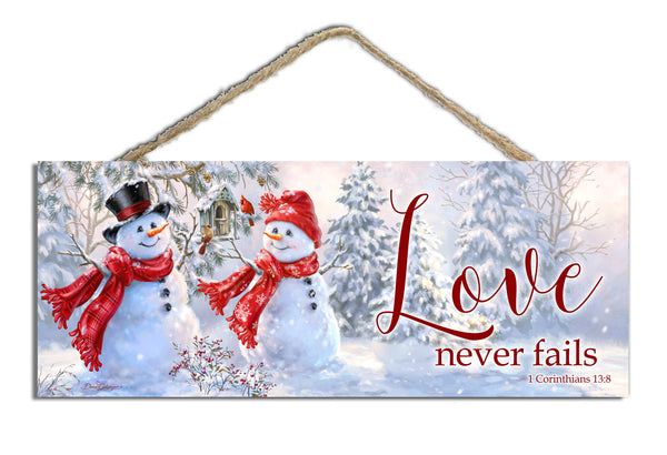 "Snow Sweethearts 4""x10"" Sign"
