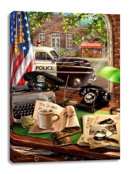 Law Enforcement Canvas Wall Art