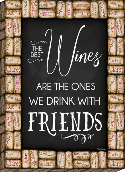 Wine with Friends Canvas Wall Art