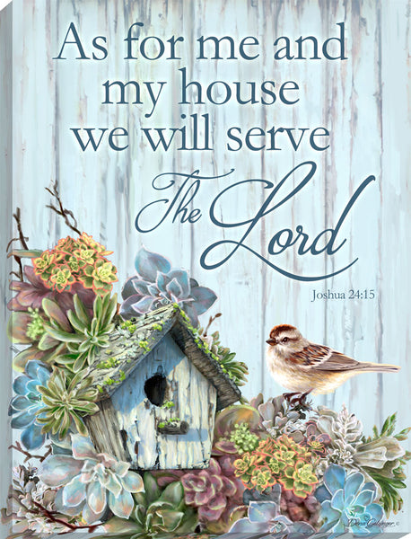 Serve the Lord Canvas Wall Art