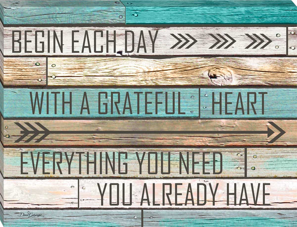 Grateful Heart Canvas Wall Art