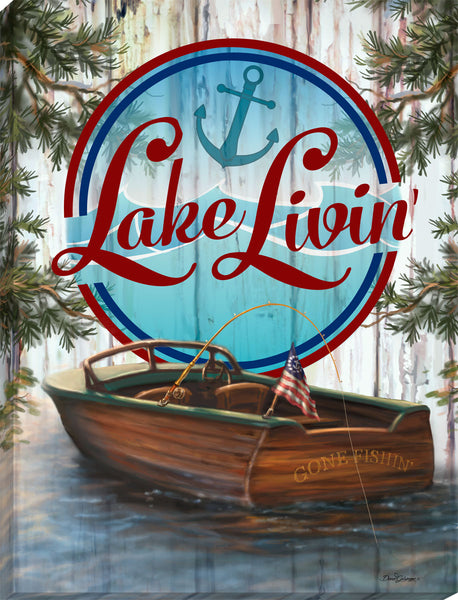 Lake Livin Canvas Wall Art