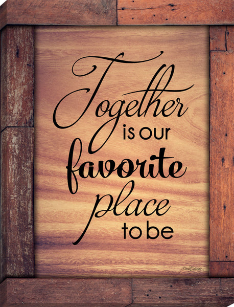 Together is our Favorite Place Canvas Wall Art
