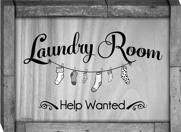 Laundry Room Help Wanted Canvas Wall Art