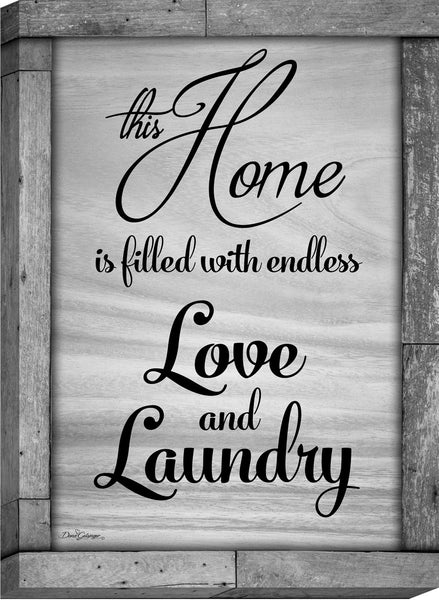 Endless Love and Laundry Canvas Wall Art