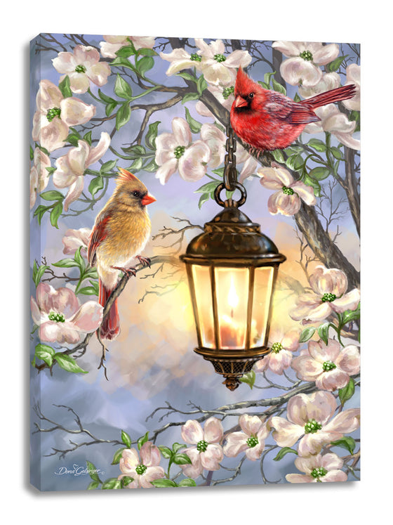 Spring Lantern Canvas Wall Art