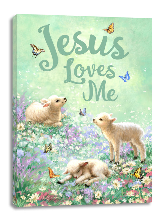 Jesus Loves Me Canvas Wall Art