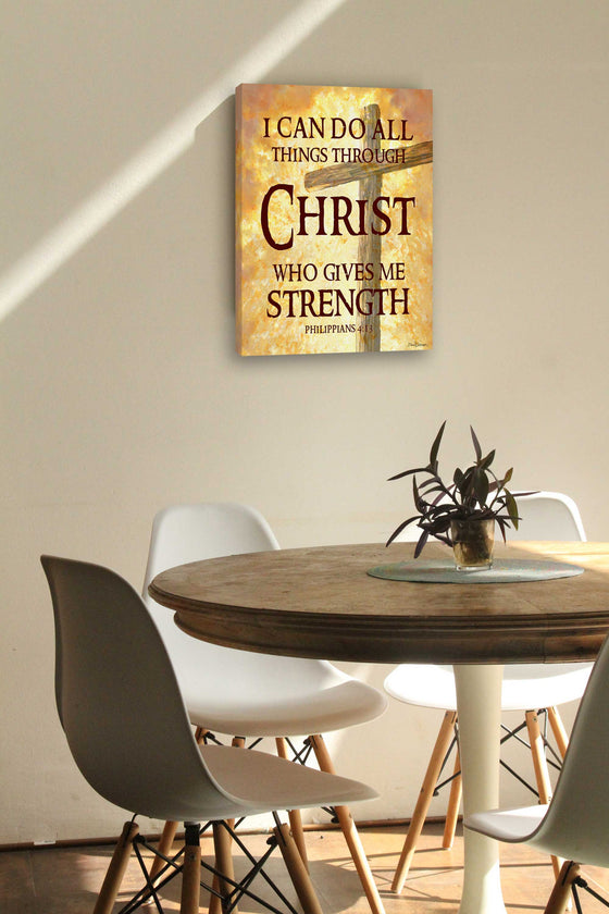 All Things Through Christ Canvas Wall Art