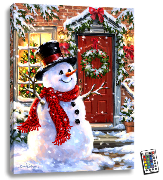 Snow Place Like Home - Illuminated Fine Art