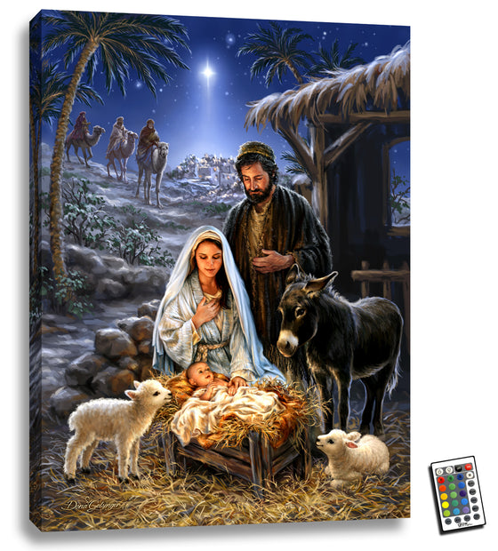 A Savior is Born - Fully Illuminated Fine Art