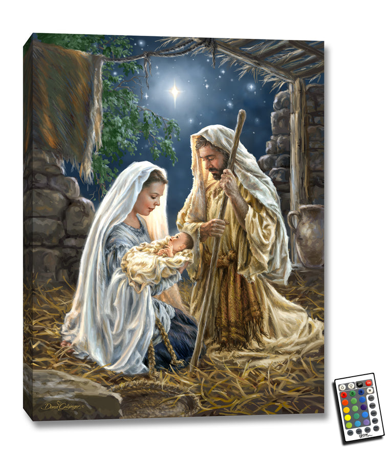 Born in a Manger - Illuminated Fine Art