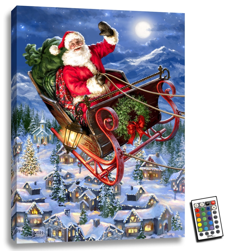 Delivering Christmas - Illuminated Fine Art