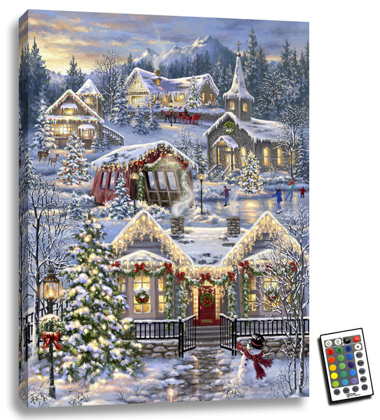 Christmas Village - Illuminated Fine Art