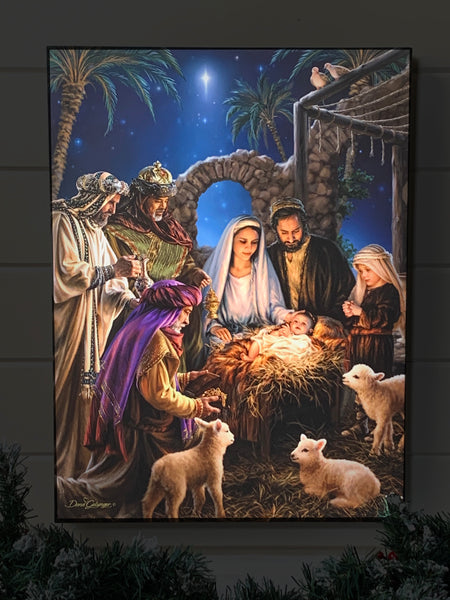 The Nativity - Illuminated Fine Art