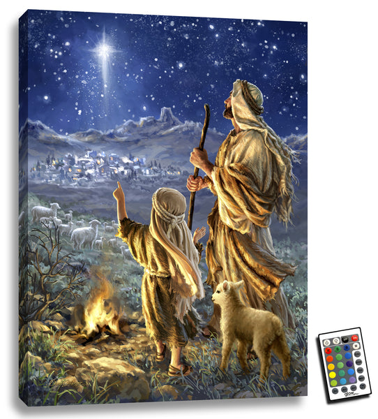 Shepherds Keeping Watch - Illuminated Fine Art