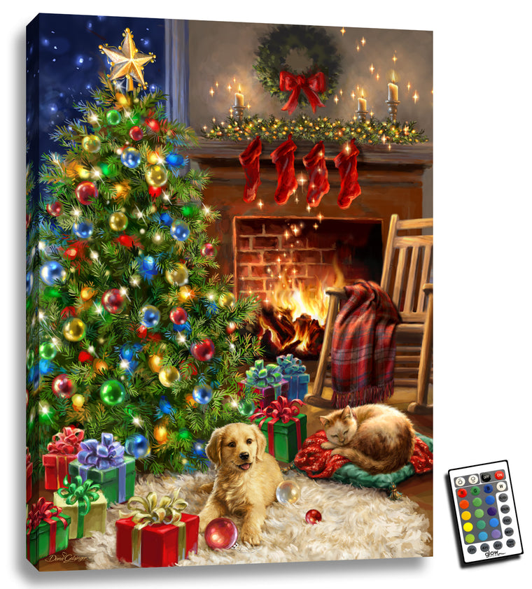 Cozy Christmas - Illuminated Fine Art
