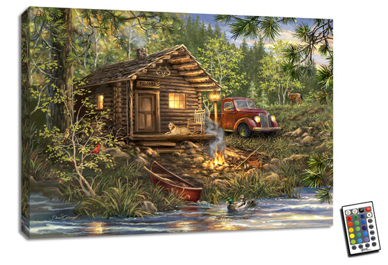 Cabin Life - Illuminated Fine Art