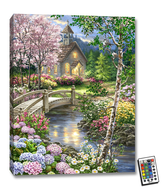 Spring Chapel - Illuminated Fine Art