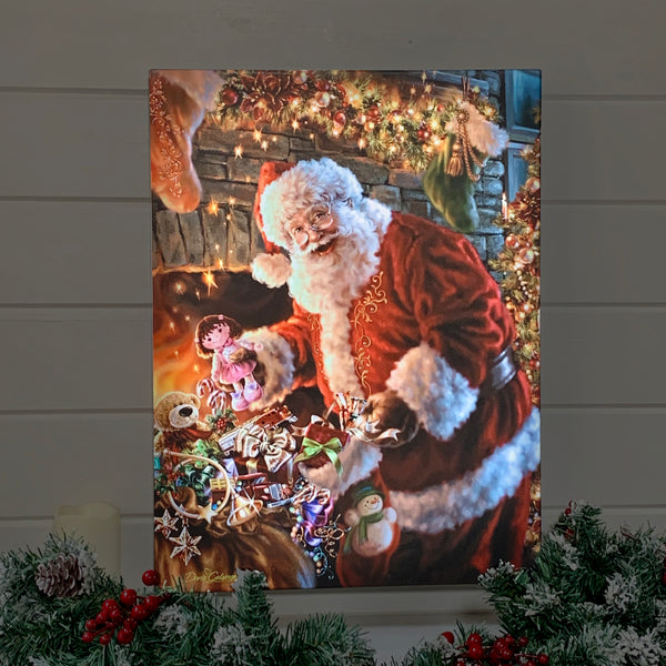 Filling The Stocking - Illuminated Fine Art